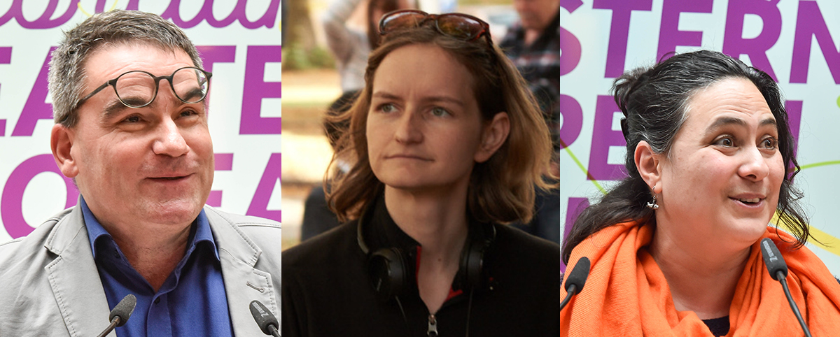Gäste v.l.: Bernd Buder (Programmdirektor/Filmfestival Cottbus), Lena Vurma (Produzentin) und Marjorie Bendeck (Direktorin/Conecting Cottbus)